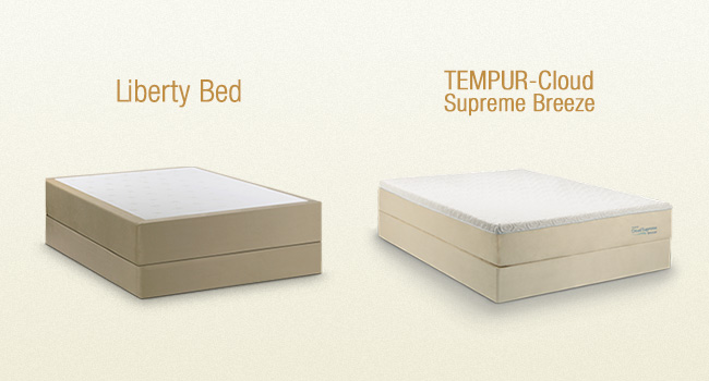 WTBB Compares: Amerisleep Liberty Bed vs Tempur-Cloud Supreme Breeze