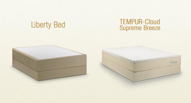 WTBB Compares: Amerisleep Liberty Bed vs Tempur-Cloud Supreme Breeze