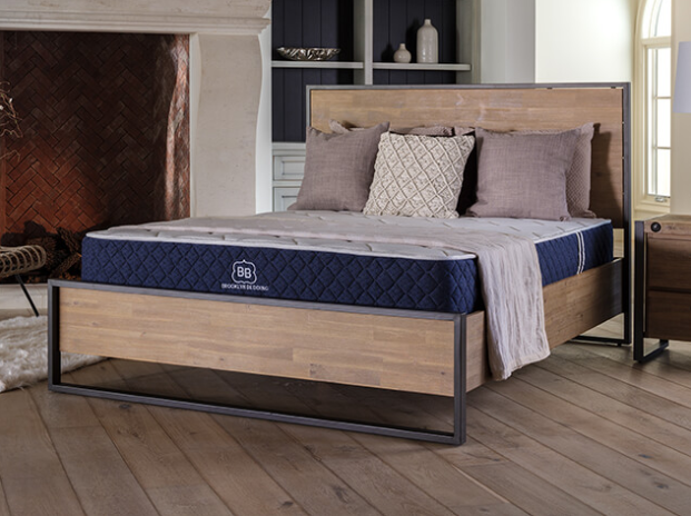 Brooklyn Bedding Signature hybrid mattress in a bedroom setting