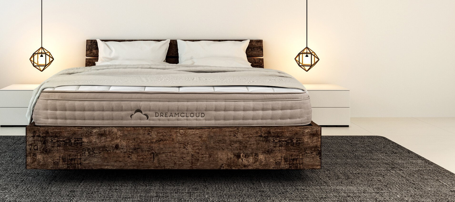 Best hybrid mattress for side sleepers — the DreamCloud in a bedroom setting.