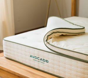 Avocado green latex mattress
