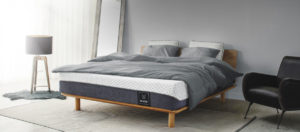 the muze mattress in gray background
